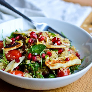 Quinoa Salad with Grilled Halloumi