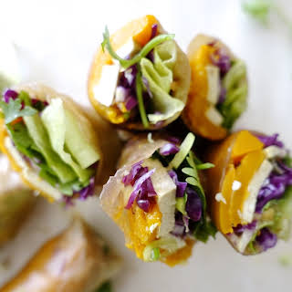 Spiced Pumpkin Summer Rolls.