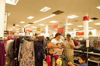 Photo: The line started forming and the people at the store were really nice and let me stand over in the media area to get a birds eye view.