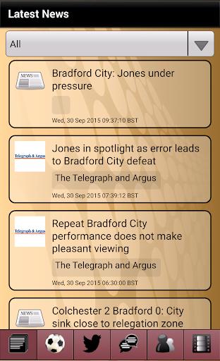 News for Bradford City