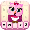 Cute Owl Keyboard Theme icon