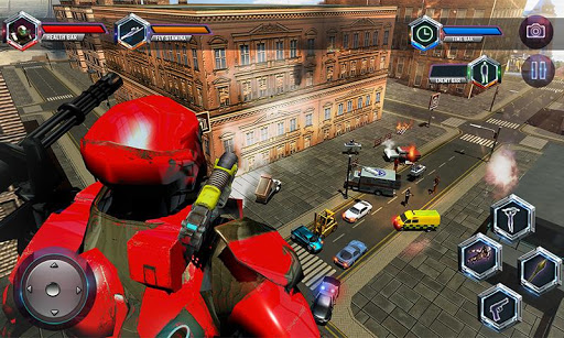 Flying Robot Grand City Rescue 3.7 screenshots 2