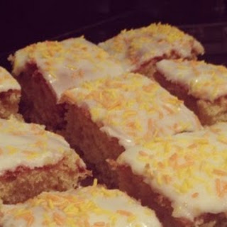 Orange and Sultana Traybake.