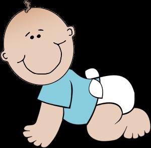 Clipart - Baby boy crawling