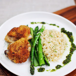 Roasted Chicken with Rice Pilaf