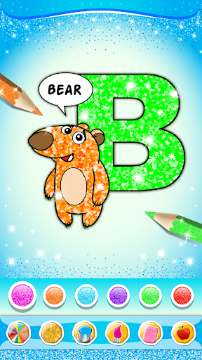 Glitter Number and letters coloring Book for kids screenshot 21