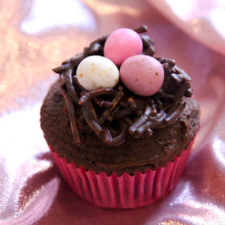 Dark Chocolate Easter Nest Cupcakes