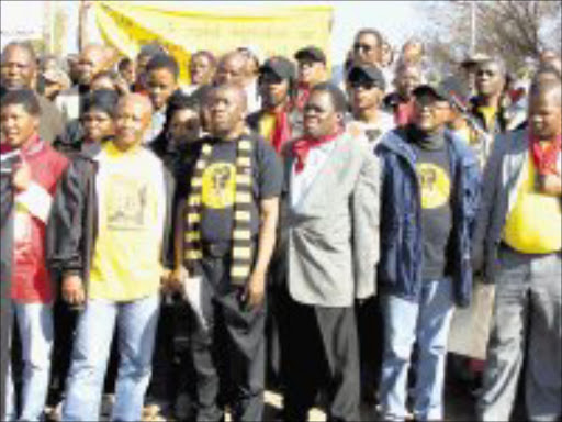 UNITED: The Azanian People's Organisation, Black People's Convention and the Socialist Party of Azania meet at a June 16 rally. Pic. Bafana Mahlangu. 16/06/08. © Sowetan.