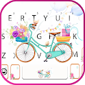 Flower Bicycle Keyboard Background icon