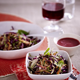 Cabbage Salad with Beet Dressing.
