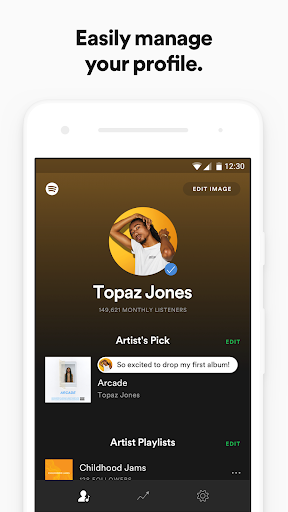 Spotify for Artists 1.4.19.1567 gameplay | AndroidFC 1