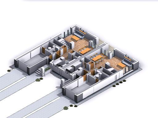 Oliwkowy - Rzut parteru 3D