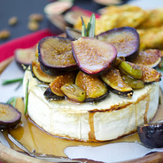 Honey Baked Brie With Figs And Rosemary