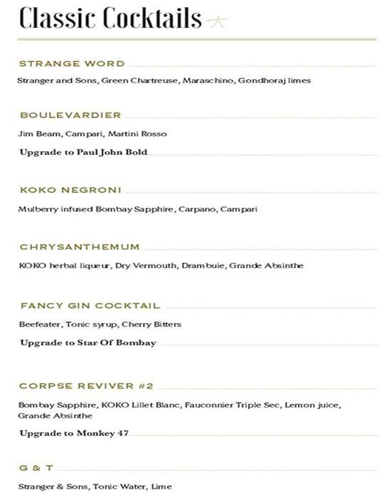 KOKO Asian Gastropub menu 13
