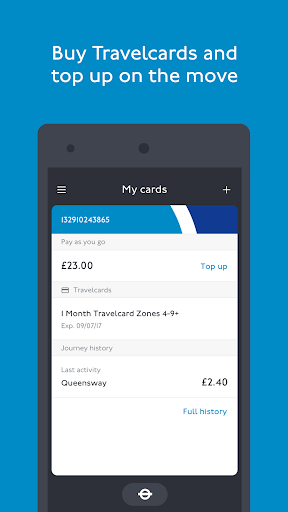 TfL Oyster and contactless screenshots 2