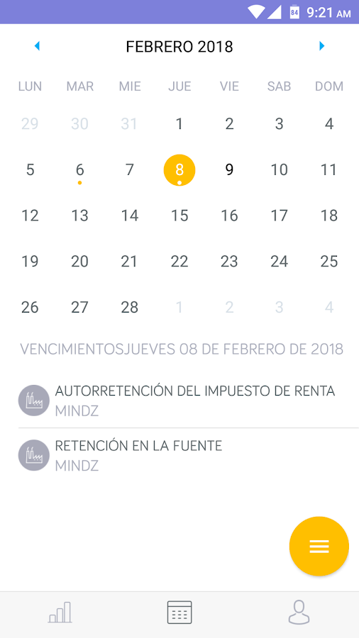 Acontar - Calendario Tributario 2018- screenshot
