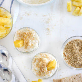 No-Bake Pineapple Cheesecake Whip (Four Ingredients and Refined Sugar Free!).