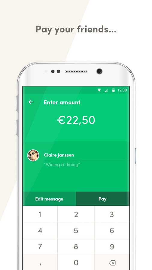 Payconiq, mobile payments- screenshot