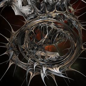 Halloween Wreath by Ricky Jarnagin - Illustration Abstract & Patterns ( abstract, ricky jarnagin, mandelbulb, dsynegrafix, 3d art, fractal, digital )