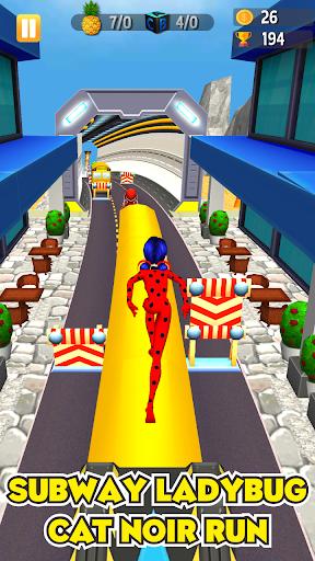 Subway Lady Bug Run 2.0 screenshots 2