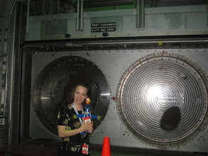 Photo: With Camilla at the Test Chamber for the Unitary 7x9 SWF Wind Tunnel — at NASA Ames Research Center.