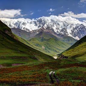 Shkhara Mountain, Svaneti, Georgia by Roland Shanidze - Landscapes Mountains & Hills ( mountains, hdr, roland shainidze, svaneti, georgia, shkhara )