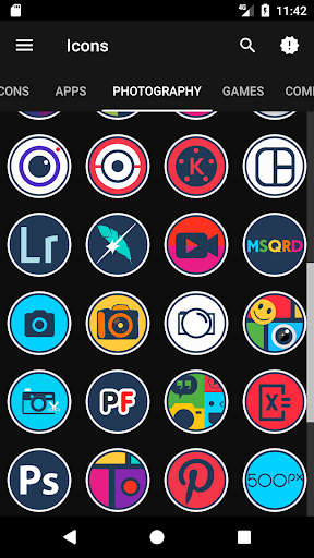 Android用Modo - Icon Pack アプリ screenshot