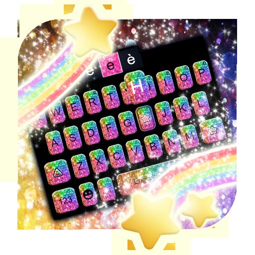 Rainbow Glisten Keyboard Theme Icon