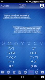 Business Blue Emoji Keyboard - náhled