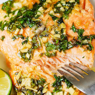 Cilantro Lime Honey Garlic Salmon (Baked in Foil) Recipe