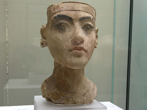 bust-of-a-king.jpg - Bust of a king, possibly Tutankhamen, dates to 1335 B.C. Seen at the Neues Museum in Berlin.