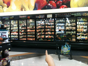 Photo: We were amazed! All of the refridgerated foods of Harris Teeter are now inside doors!