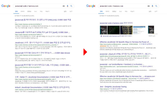 Google Search domain filter