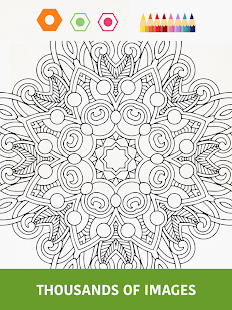 Colouring book for adults app