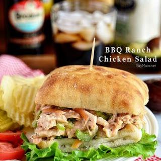 BBQ Ranch Chicken Salad Sandwich.