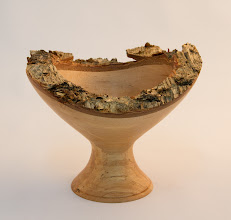 "Photo: Gary Guenther - Natural-edge Chalice - 6"" x 4.75"" [Spalted Birch]"