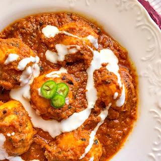 Easy Chicken Kofta in Creamy Coconut Curry.