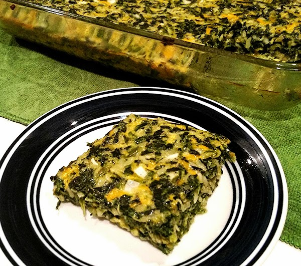 Spread mixture evenly into prepared dish.  Bake for 40 - 45 minutes, or until set...