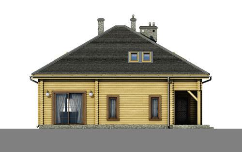 D176 - Anna wersja drewniana - Elewacja tylna
