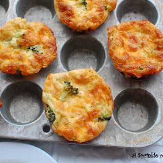 Broccoli and Cheddar Mini Frittatas.