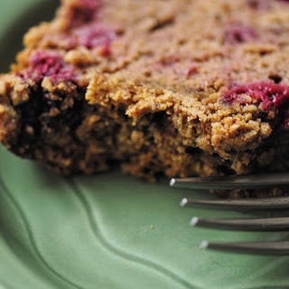 Raspberry Sour Cream Coffee Cake Loaf w/ Cinnamon Crumble Topping (Gluten Free).