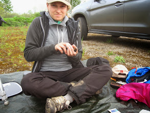 Photo: Not a happy camper...SOOOOO many mosquitos