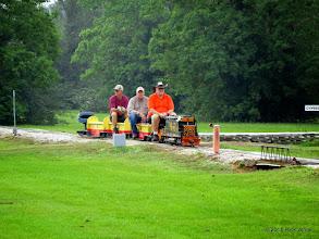 Photo: Bill Smith (engneer), Bob Barnett, and Dennis Profota     HALS Public Run Day 2015-0516 8:42 AM RPW