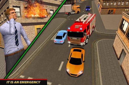 Fire Truck Ambulance Driver: Fire Rescue Games 1.0 screenshots 2