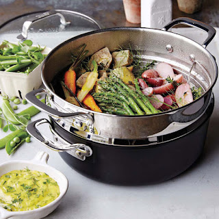 Steamed Spring Vegetables with Garlic-Herb Aioli Recipe
