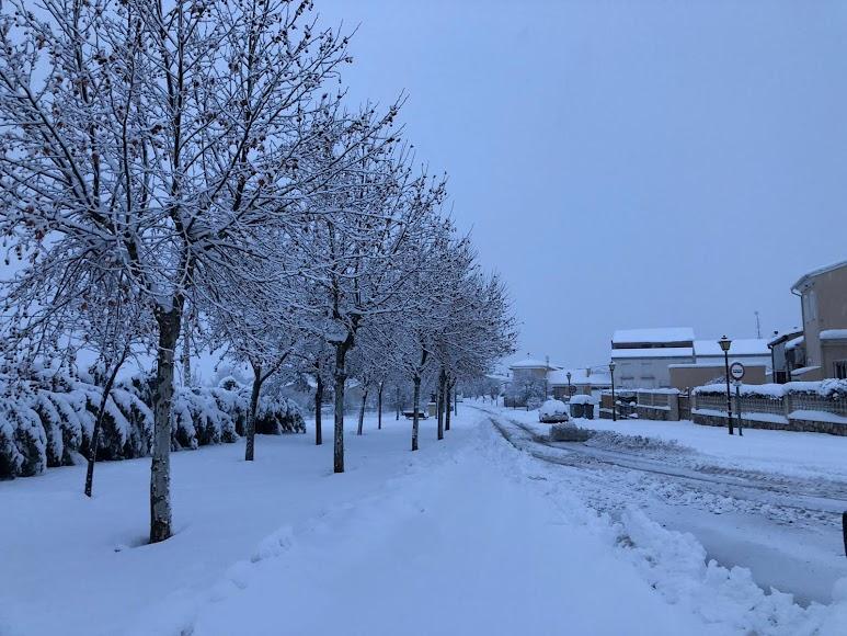 El municipio de María este martes con hasta 40 cm de nieve. /Foto: Ayto. María