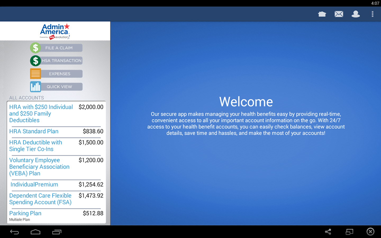 Benefits by Admin America- screenshot