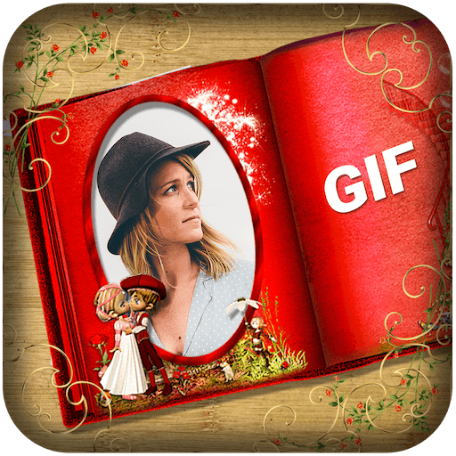 Book GIF Photo Frame Collage