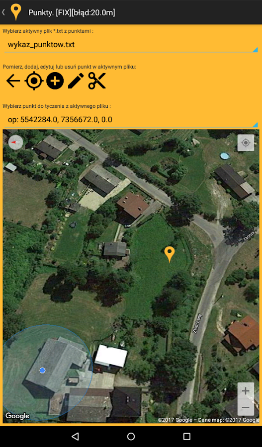 geoGPS trial- screenshot