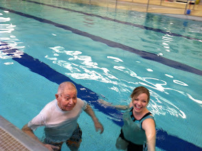 Photo: Aquatic Therapy with our 94 year old WWII Veteran at Home Sweet Home Medical Foster Home